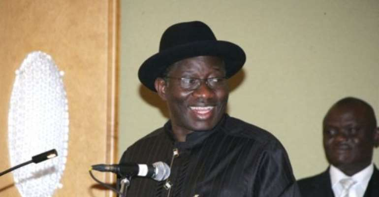 PHOTO: PRESIDENT GOODLUCK JONATHAN.