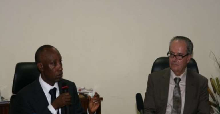 PHOTO: L-R: NNPC GMD, ENGR. AUSTEN ONIWON AND FRENCH AMBASSADOR TO NIGERIA, H.E JEAN-MICHEL DUMOND.