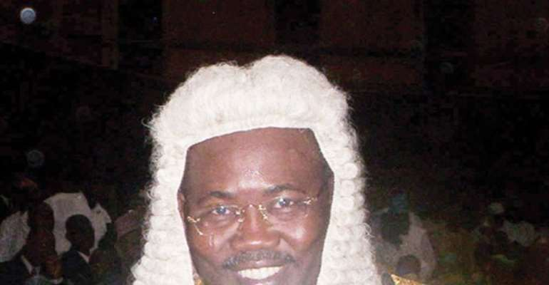 PHOTO: ATTORNEY GENERAL AND MINISTER OF JUSTICE, MR MOHAMMED BELLO ADOKE, SAN.