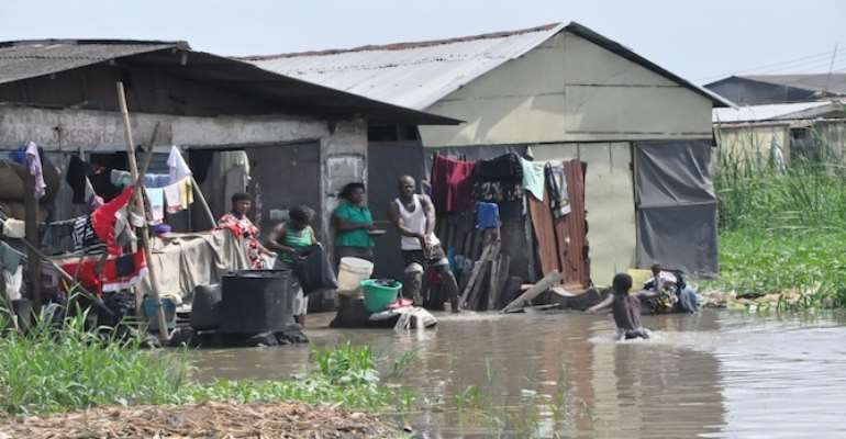 PHOTO: A FLOODED COMMUNITY IN THE AJEGUNLE AREA OF IKORODU IN LAGOS.
