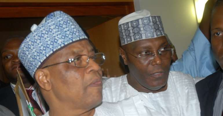 PHOTO: L-R: FORMER MILITARY DICTATOR, GENERAL IBRAHIM BABANGIDA AND FORMER VICE PRESIDENT, ALHAJI ATIKU ABUBAKAR HAVE ANNOUNCED THEIR INTENTIONS TO CONTEST IN THE 2011 PRESIDENTIAL ELECTION.