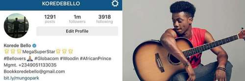 Korede Bello Beats, 2Face, Phyno, D'Banj, Others On Instagram