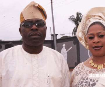 Hon.Folake Oshinowo and her husband,Tunde (Teddy Shine)<br/>