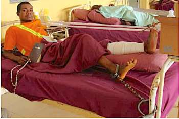 Abraham Ani, Victim Of Emene Massacre Chained In His Hospital Bed