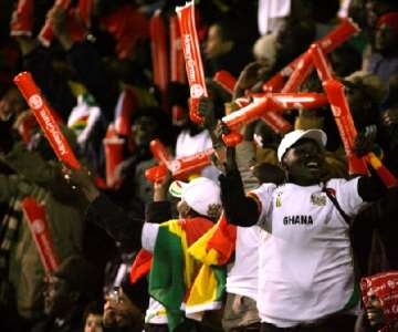 The Ghanaians were there in their numbers