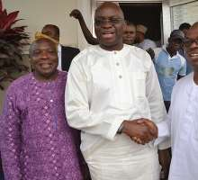 Gov. Ayodele Fayose Paid A Surprise Visit To Former Gov. Ofekiti-State Eng Segun Oni In His Home Town Ifaki—Ekiti