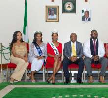Miss Africa Great Britain Pays Courtesy Call On The Nigerian High Commissioner