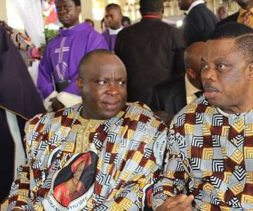 Sir Victor Umeh, National Chairman of APGA and Chief Willie Obiano, Governor of Anambra State