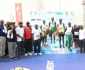 GOV. AMBODE, HON. DALUNG, HERBERT WIGWE,THE TO P 3 NIGERIAN MALE ATHLETES AND OTHERS