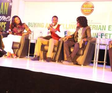AFRIFF BOSS CHIOMA UDE, FEMI FALODUN, EHIZ AND WUNMI OBE AT NEC LIVE,