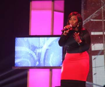NIGERIAN IDOL 5 CONTESTANT, AYOKA PERFORMING DURING THE GROUP STAGE PERFORMANCE AT THE OMG DREAM STUDIOS IN LAGOS AT THE WEEKEND