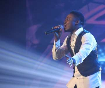 NIGERIAN IDOL 5 CONTESTANT, K-PEACE PERFORMING DURING THE GROUP STAGE PERFORMANCE AT THE OMG DREAM STUDIOS IN LAGOS AT THE WEEKEND