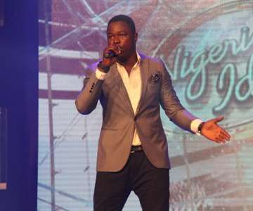 NIGERIAN IDOL 5 CONTESTANT, MAURIZ PERFORMING DURING THE GROUP STAGE PERFORMANCE AT THE OMG DREAM STUDIOS IN LAGOS AT THE WEEKEND