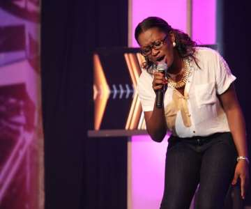 NIGERIAN IDOL 5 CONTESTANT, OLUCHI PERFORMING DURING THE GROUP STAGE PERFORMANCE AT THE OMG DREAM STUDIOS IN LAGOS AT THE WEEKEND 2