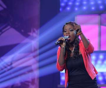 NIGERIAN IDOL 5 CONTESTANT, PRECIOUS PERFORMING DURING THE GROUP STAGE PERFORMANCE AT THE OMG DREAM STUDIOS IN LAGOS AT THE WEEKEND
