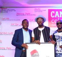 Talented Fan Presents 2-Baba With Painting As Campari Celebrates Honorary Masters Degree
