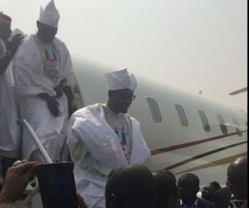 BUHARI ARRIVES IN MINNA