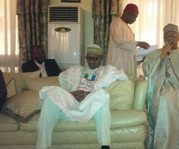 BUHARI AT IBB''S HOUSE