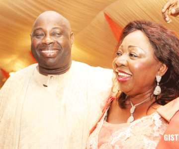 Chief Dele Momodu with Senator Florence Ita Giwa<br/>