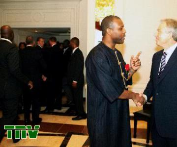PRINCE TONYE PRINCEWILL AND TONY BLAIR (FORMER UK PRIME MINISTER) AT A BUISNESS SUMMIT IN NEW YORK