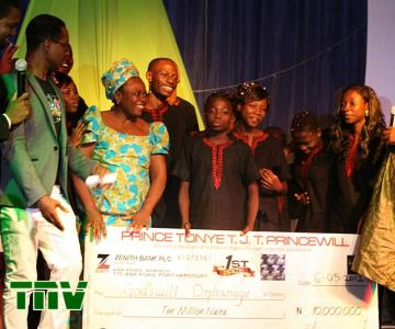 GODSWILL ORPHANAGE, KOGI STATE, WINNERS, WITH THEIR CHEQUE OF N10M