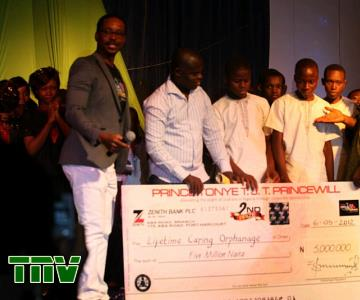 LIFETIME CARING ORPHANAGE, RIVERS STATE, 1ST RUNNER UP WITH THEIR CHEQUE OF N5M  2