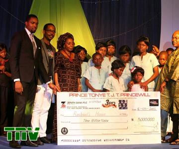 RACHEAL HOMES, ABUJA, 2ND RUNNER UP WITH THEIR CHEQUE OF N3M